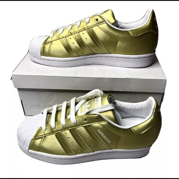 Adidas Superstar Metallic Gold Shoes Women's